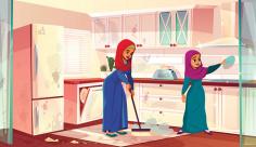 وکتور نظافت آشپزخانه