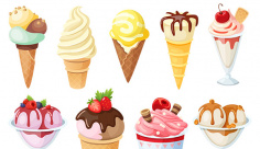 وکتور لوگو و آیکن شیرینی و بستنی