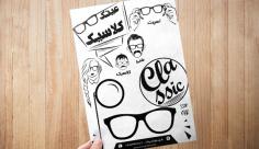 طرح لایه باز تراکت ریسو فروشگاه عینک