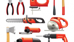 وکتور ابزار آلات صنعتی
