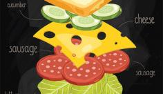 وکتور اسنک سبزیجات با پنیر