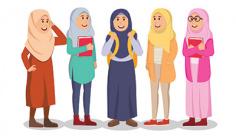 وکتور دانشجو دختر با حجاب