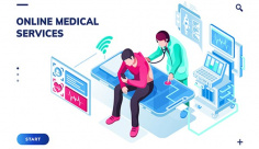 وکتور اسلایدر وب سایت پزشکی آنلاین