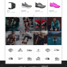 طرح لایه باز قالب وب سایت فروشگاه لوازم ورزشی