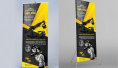 طرح لایه باز استند شرکت فیلمسازی و تبلیغاتی نگاه مثبت