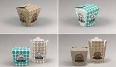 موکاپ بسته بندی کاغذی خوراکی