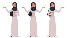 وکتور کارکتر زن با حجاب