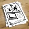 طرح لایه باز ست تبلیغاتی خدمات کامپیوتری(تراکت رنگی، کارت ویزیت، تابلو سردرب ، تراکت ریسو )