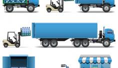 وکتور کامیون و حمل و نقل