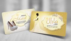 طرح لایه باز کارت ویزیت مزون عروس