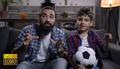 فوتیج ویدیویی هیجان تماشای فوتبال