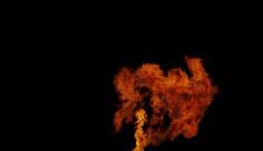 فوتیج ویدیویی انفجار آتش