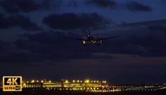 فوتیج ویدیویی فرود هواپیما