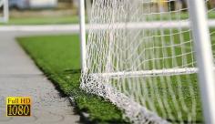 بک گراند ویدیویی از نمای پشت دروازه فوتبال
