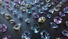 بک گراند ویدیویی الماس براق رنگارنگ