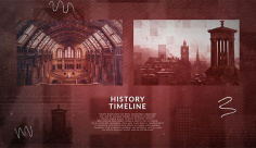 پروژه پریمیر اسلایدشو تاریخی