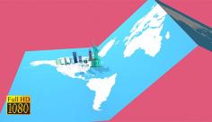 فوتیج ویدیویی نقشه گردشگری