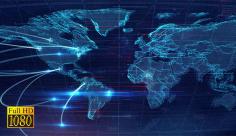 فوتیج ویدیویی نقشه کشورهای جهان