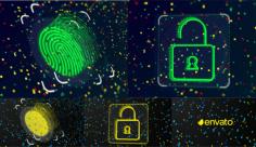 پروژه افترافکت نمایش لوگو امنیتی
