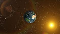 بک گراند ویدیویی اتصال فضایی زمین