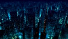 بک گراند ویدیویی شب زیبای شهر وساختمان ها