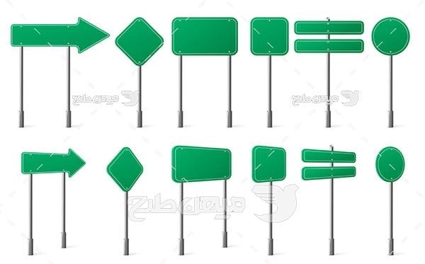 وکتور تابلو های خام علائم راهنمایی و رانندگی