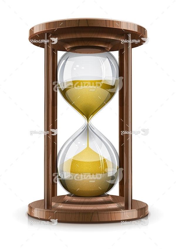 وکتور ساعت شنی