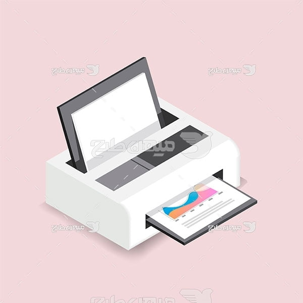 وکتور دستگاه چاپ