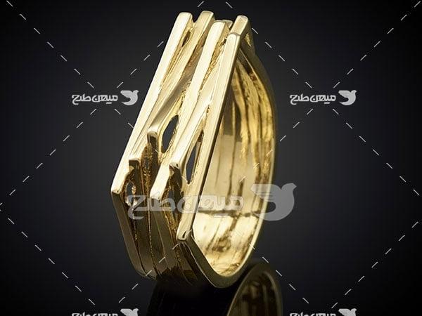 عکس تبلیغاتی جواهرانگشتر طلا