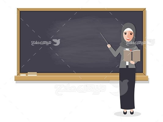 وکتور کاراکتر حجاب خانم معلم