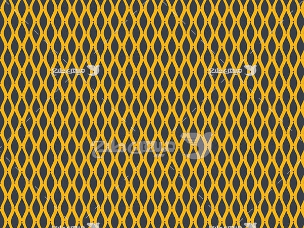 وکتور بک گراند طرح کرکره آکاردئون زرد و مشکی