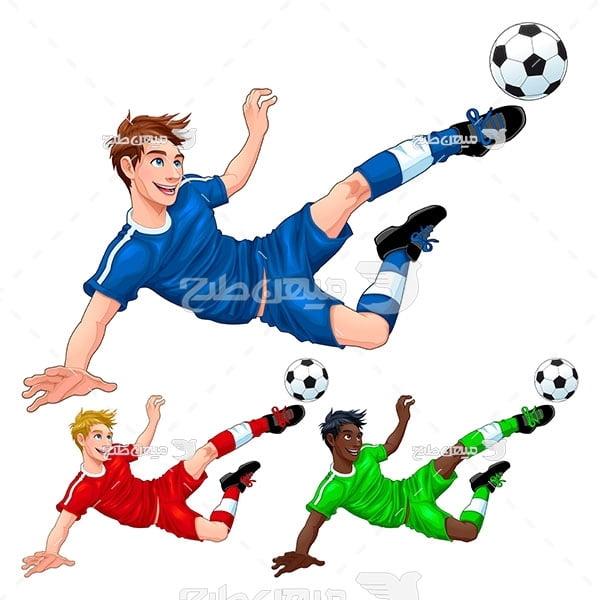 وکتور حرکت فوتبالی
