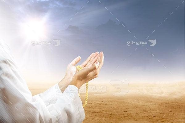عکس تبلیغاتی حجاب و ارتباط با خدا