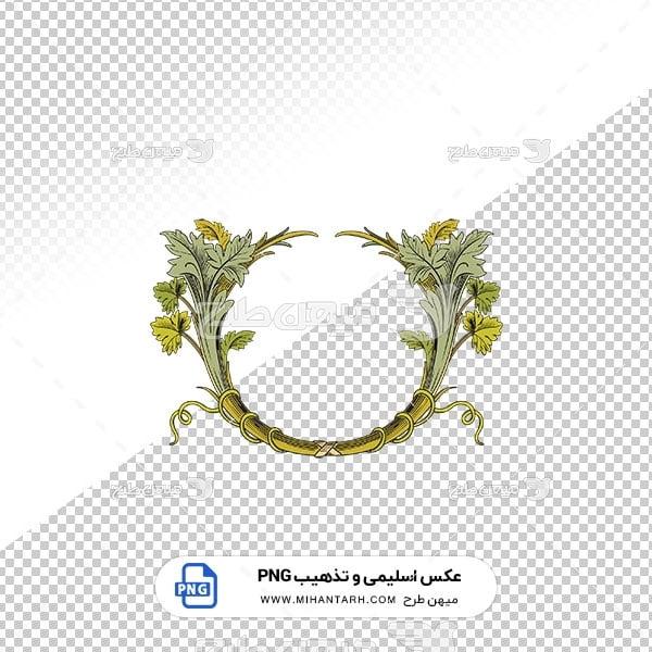 عکس برش خورده اسلیمی و تذهیب قاب عنوان طرح برگ