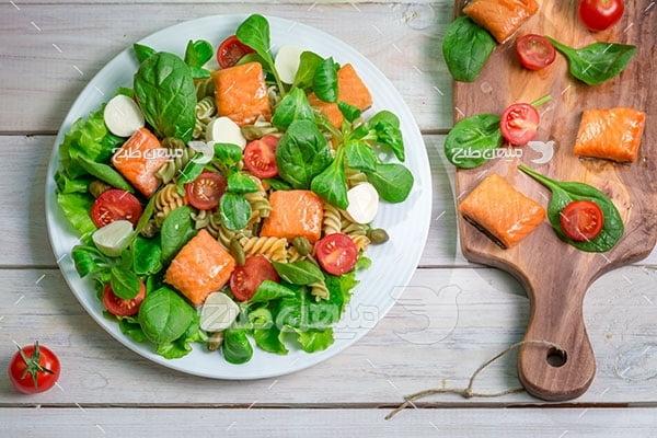 عکس  سالاد ماکارونی سبزیجات