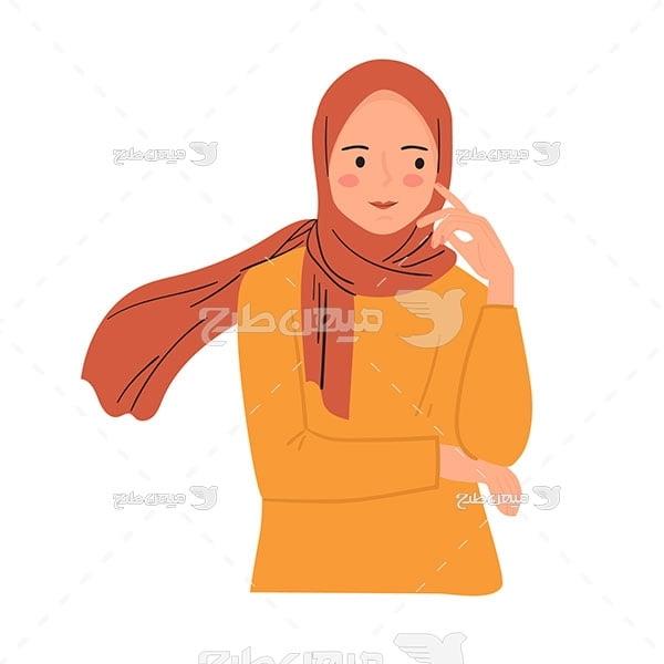 وکتور دختر ایرانی