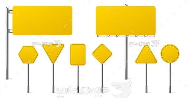 وکتور تابلو رانندگی به رنگ زرد