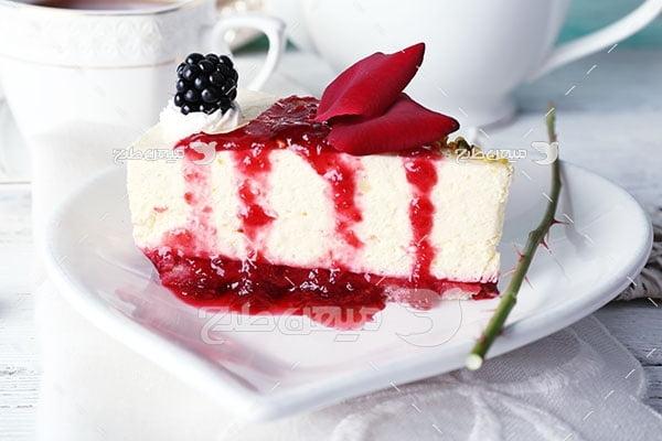 عکس کیک تمشک