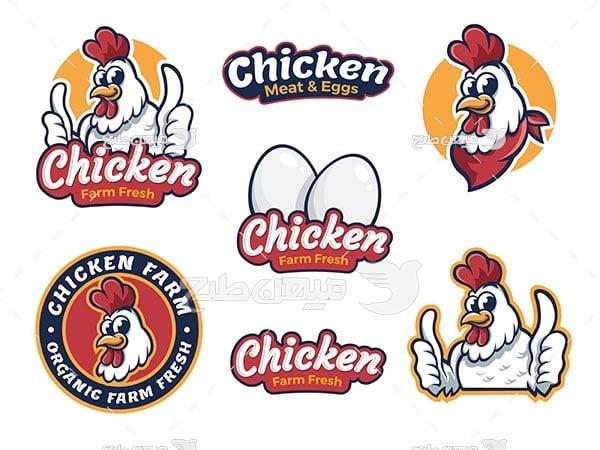 لوگو و آیکن مرغ و تخم مرغ