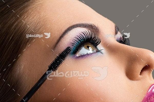 عکس تبلیغ آرایش چشم