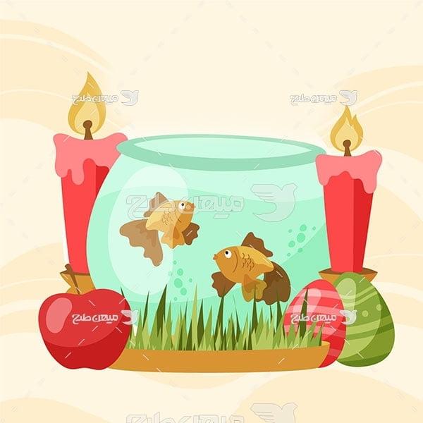 وکتور ماهی سفره عید