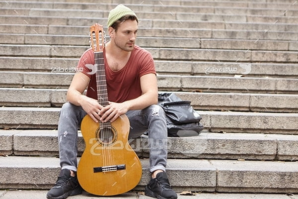 عکس نوازنده گیتار