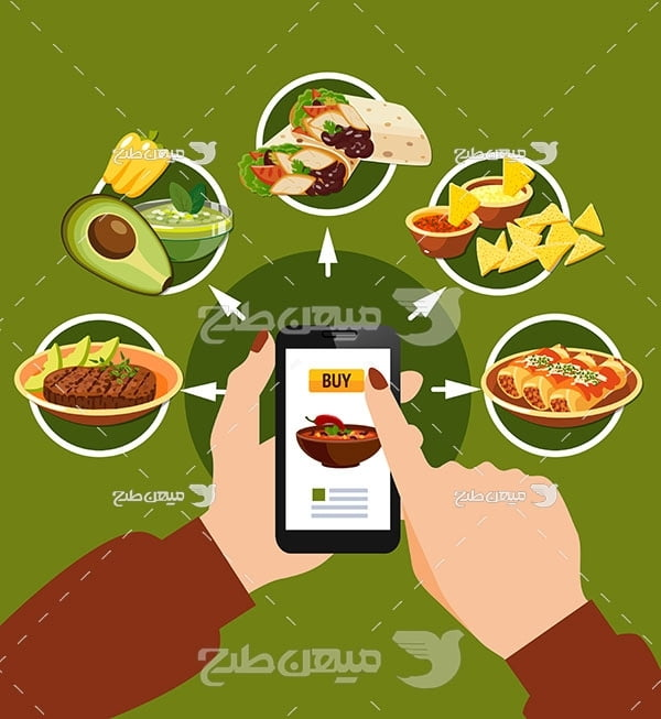 وکتور سفارش آنلاین غذا