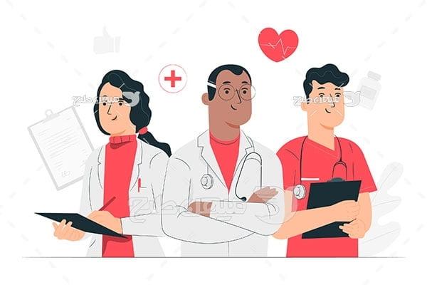 وکتور کادر پزشکی درمانی