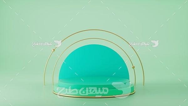 عکس بک گراند مدل مینیمال سبز آبی