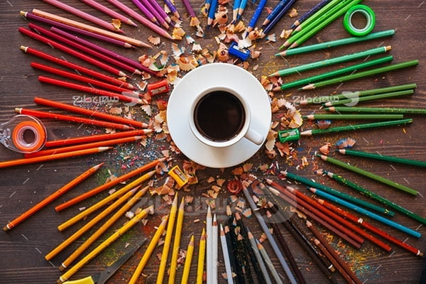 عکس تبلیغاتی مداد تراشیده
