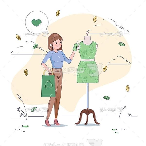 وکتور فروشگاه لباس زنانه