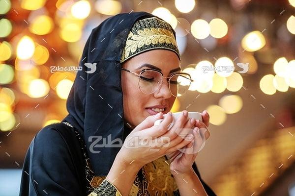 عکس آرامش چهره زن ایرانی