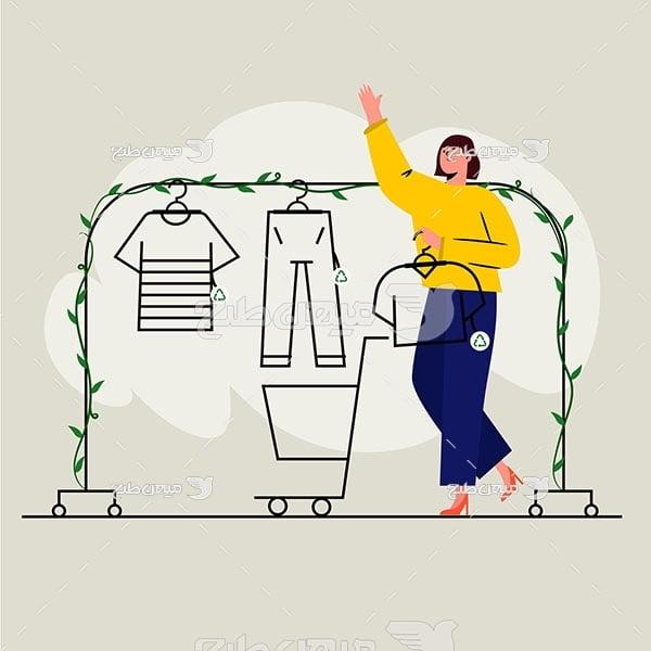 وکتور فروشگاه لباس