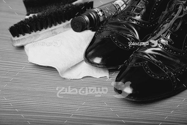 عکس بلیغاتی مد کفش مردانه مشکی